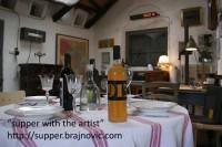Supper with the Artist, TOMISLAV BRAJNOVIC, Studio Golo Brdo, Croatia